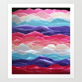Colour waves II Art Print