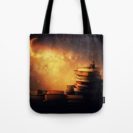 midnight tale Tote Bag
