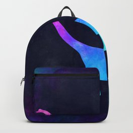 BRACHIOSAURUS IN SPACE // Animal Graphic Art // Watercolor Canvas Painting // Modern Minimal Cute Backpack