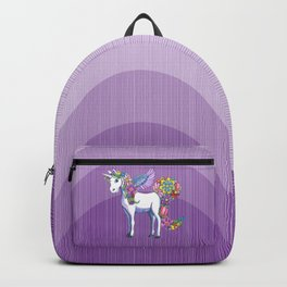 A Unicorn Sprouting Flowers Backpack
