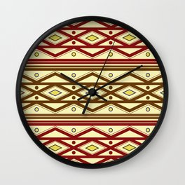 ethno pattern Wall Clock