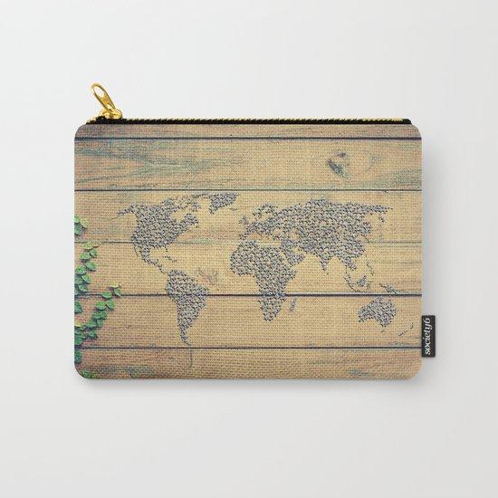 Metallic Foil Map on Oak Carry-All Pouch