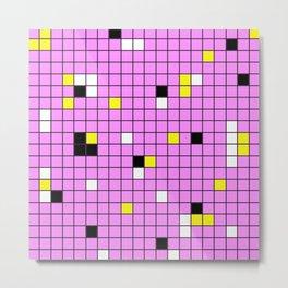 Mingling - Abstract, conceptual, minimalistic, geometric artwork Metal Print