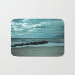 Blue Morning at Rehoboth Abstract Coastal Landscape Photograph Bath Mat