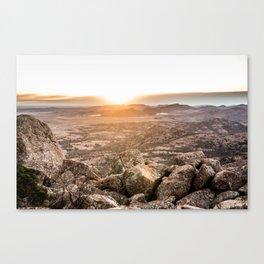 Sunset on Mountains Canvas Print