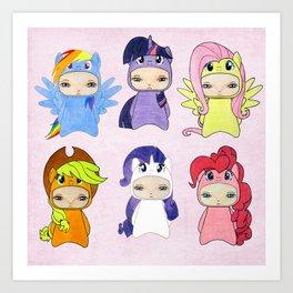 A Boy - Little Pony Art Print