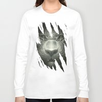 tiger Long Sleeve T-shirts featuring Tiger by Dr. Lukas Brezak