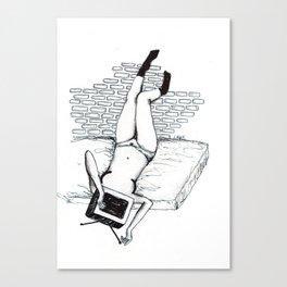Porn watcher Canvas Print