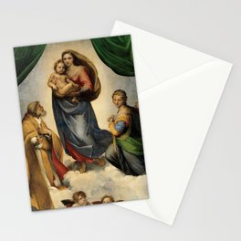 The Sistine Madonna Oil Painting by Raphael Stationery Cards