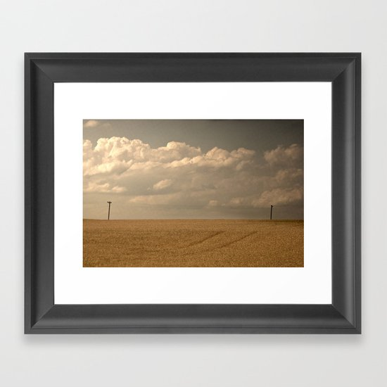 """""""I could read the sky"""" Framed Art Print"""