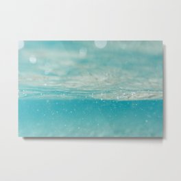 Under sea blue Metal Print