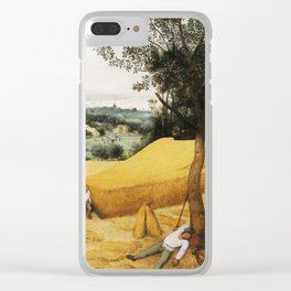 The Harvesters by Pieter Bruegel the Elder, 1565 Clear iPhone Case