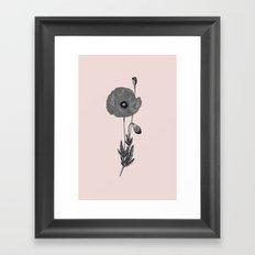 One flower one love in pink Framed Art Print