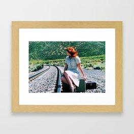 Waiting For The Train Framed Art Print