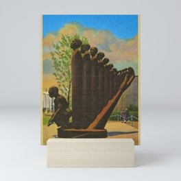 African American Masterpiece 'Lift Up Every Voice & Sing' based on the sculpture by Augusta Savage Mini Art Print
