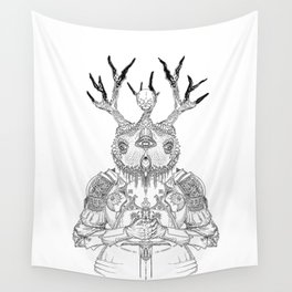 The Guardian Owl Wall Tapestry