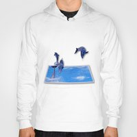 dolphins Hoodies featuring Leaping Dolphins by Roger Wedegis