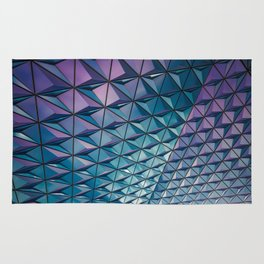 Blue Purple Geometric Pattern Rug
