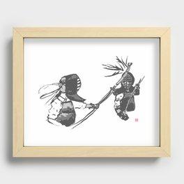 Naginata Sumi-E by Takemi Recessed Framed Print