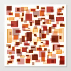 Red Abstract Rectangles Canvas Print