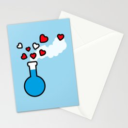 Blue and Red Laboratory Flask Stationery Cards