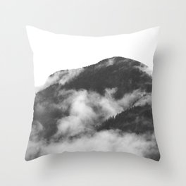 Foggy Mountain Throw Pillow