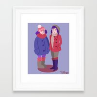 broad city Framed Art Prints featuring Broad City by Aysen Gerlach