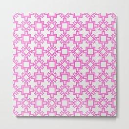 Pink Blizzard Abstract Geometric Seamless Pattern Metal Print