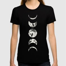 Lunar Nature Womens Fitted Tee X-LARGE Black