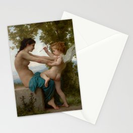 """William-Adolphe Bouguereau """"A Young Girl Defending Herself against Eros"""" Stationery Cards"""