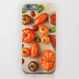 Tomatoes for tomato ketchup iPhone Case
