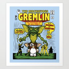 The Mischievous Gremlin Art Print