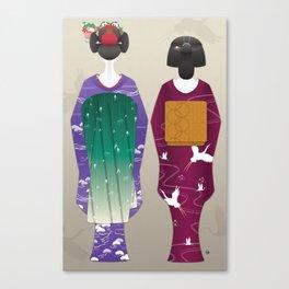 Geisha Maiko Winter Canvas Print