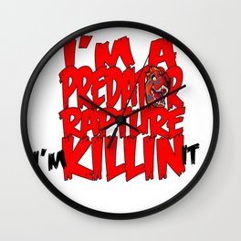 Krewella Lyric TYPE DESIGN Wall Clock