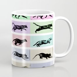 Time Lapse Motion Study Cat White and Color  2 Coffee Mug
