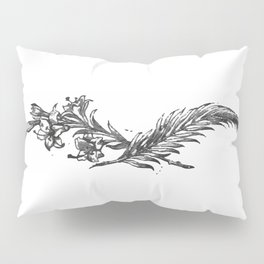Flowers and feather Pillow Sham