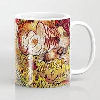 superheros Mugs featuring BoooM by MelissaMoffatCollage