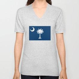 Flag of South Carolina Unisex V-Neck