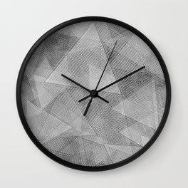 Messy Triangles Wall Clock