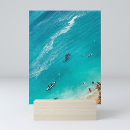 Beach from above Mini Art Print