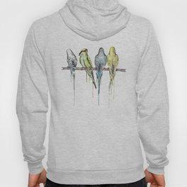 Blindfold the budgie, budgies on a branch Hoody