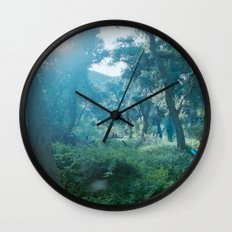 Green Forest I Wall Clock