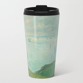 Cliffs at Pourville by Claude Monet,1882 Travel Mug