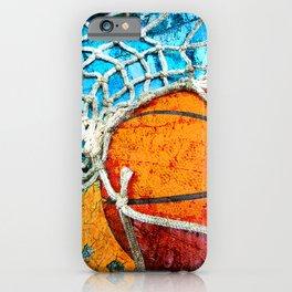 Basketball art print 103 iPhone Case