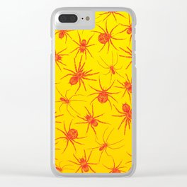 Red spider Clear iPhone Case