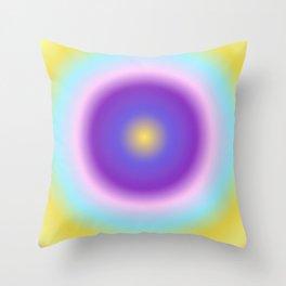 Purple Night Round Gradient Throw Pillow
