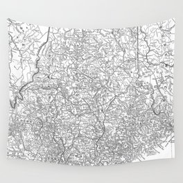 Vintage Map of Maine (1911) Wall Tapestry
