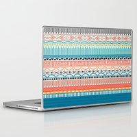 sweater Laptop & iPad Skins featuring Sweater Pattern by Gretel Digo