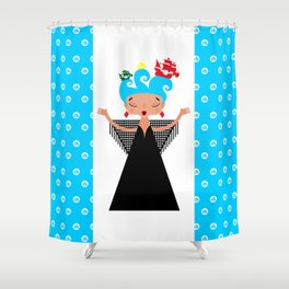 Portuguese Fado Singer and ships Shower Curtain