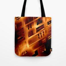 Abstract 379 Orange Geometric Windows Tote Bag